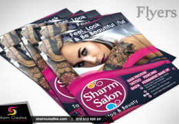 Sharm Salon Flyer designed by Sharm Creative